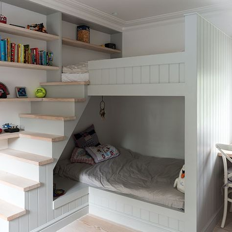 Pale grey children's bedroom with bunk bed | Childrens room decorating | Livingetc | Housetohome.co.uk