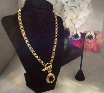 Givenchy Jewelry Set This Set Is 18kt Gold Plated And Necklace Has Pendant W Toggle Clasp Vintage Givenchy Jewelry Givenchy Jewelry Diamond Solitaire Earrings
