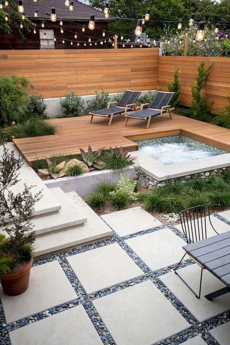 46 Attractive Small Pool Backyard Designs Ideas You .- 46 Attraktiver kleiner Pool Hinterhof Designs Ideen, die Sie begeistern – Garten Dekoration 46 Attractive Small Pool Backyard Designs Ideas That Inspire You attractive # inspire -