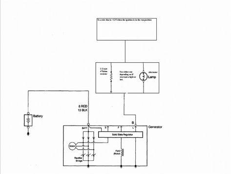 Beautiful One Wire Alternator Wiring Diagram Diagram