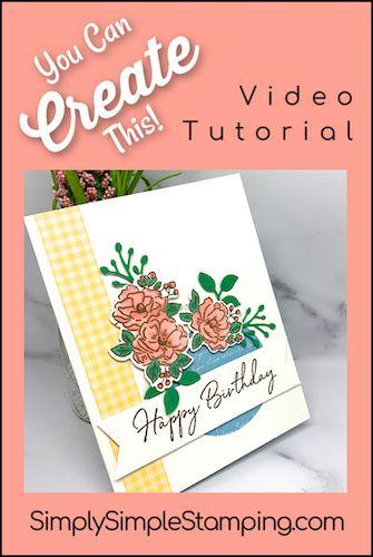 Floral Window Birthday Card Plus 2 Bonus Cards Diy Birthday Cards In 2020 Birthday Cards For Mom Birthday Cards Birthday Cards Diy