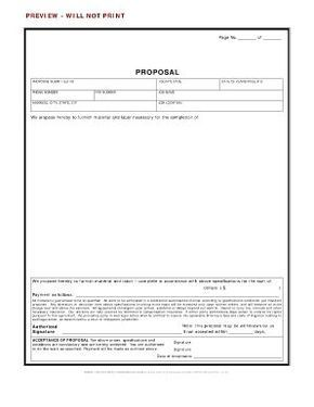 Contractor bid proposals templates form | Free print
