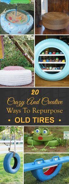 20 Crazy And Creative Ways To Repurpose Old Tires,  #Crazy #creative #naturalplaygroundideastoddlers #repurpose #tires #ways