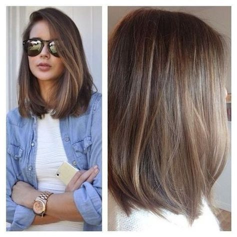 List Of Pinterest Long Bob Hairstyles With Layers Bangs Brunettes