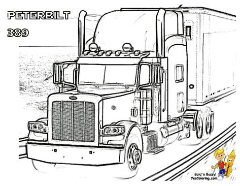 Peterbilt Truck Coloring Pages Truck Coloring Pages Coloring Pages Semi Trucks