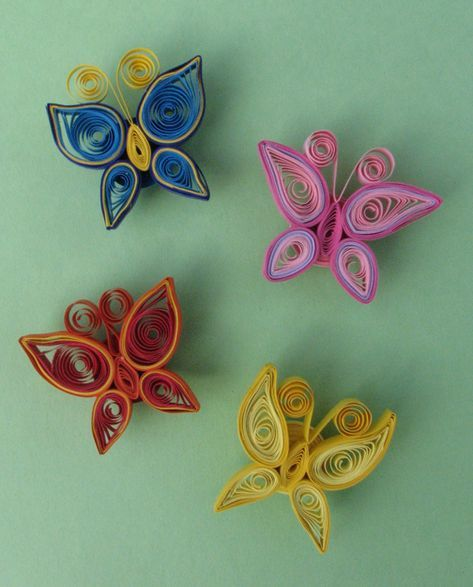 Simple Butterfly Magnets Paper Quilling Patterns Quilling