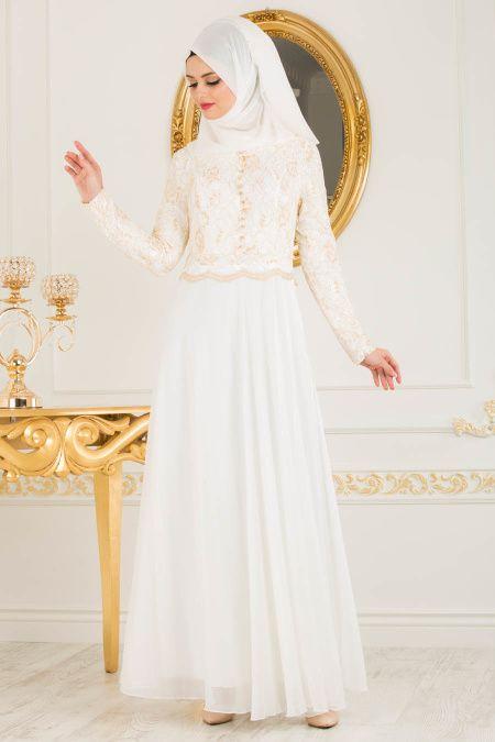 Komple Dantel Tesettur Abiye Beyaz Kapida Odemeli Ucuz Bayan Giyim Online Alisveris Sitesi Modivera Com Ucuz Tesettur Abiye El Giyim The Dress Moda Stilleri