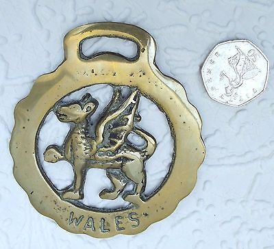 An Old Horse Brass Showing The Welsh Dragon The National Symbol Of