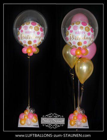 Ballon Bouquet Bubble Bunt Elegant Exlusiv Geburtstag Geschenk