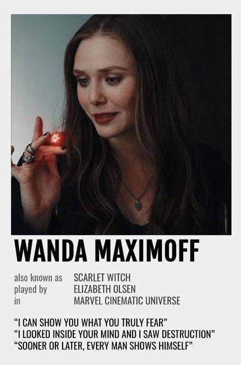 Wanda Maximoff Polaroid Poster