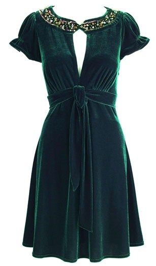 Holly Willoughby embellished velvet dress. I had a dress like this when I was 12...it was my favorite!