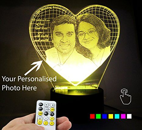 3d Illusion Personalised Led Lamp Anniversary Gifts Personalized Anniversary Gifts Father Birthday Gifts