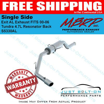 Mbrp Single Side Exit Al Exhaust For 2000 06 Tundra 4 7l Resonator Back S5330al Tundra Exhausted Single