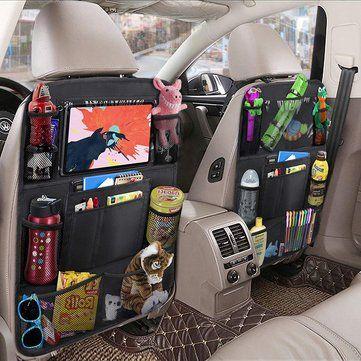 car accessories Favorable Leather Car Seat Storage Box Auto Seat Gap Pocket Organizer For Phone Card Cigarettes Storage - NewChic Mobile Car Hacks, Camping Hacks, Backseat Car Organizer, Cute Car Accessories, Travel Accessories, Leather Accessories, Leather Car Seats, Car Essentials, Seat Storage