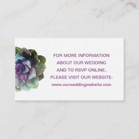 Wedding Website Or Registry Information Enclosure Zazzle
