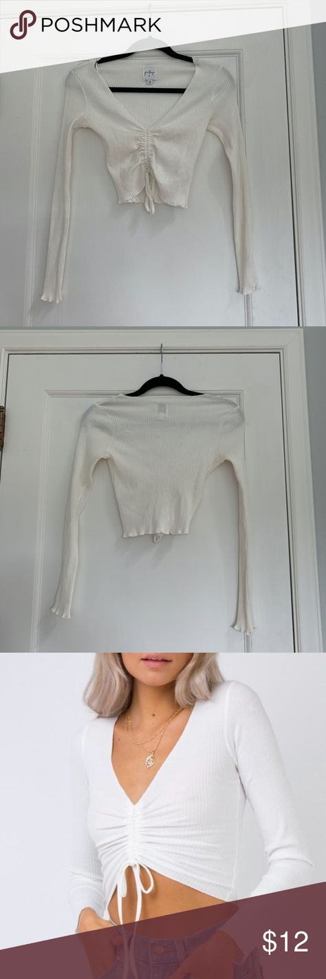 Princess Polly Pinch Me Top Princess Polly Pinch Me Top in white. Very cute and flattering, never worn before! Princess Polly Tops Crop Tops