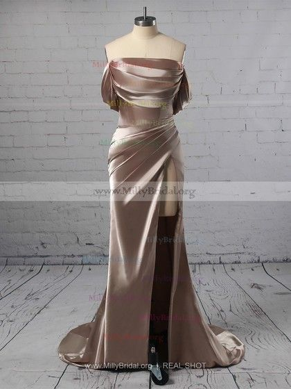 Sheath/Column Off-the-shoulder Silk-like Satin Sweep Train Ruffles Prom Dresses #Milly020104841    You finally found the right silk dress - the one that you've always envisioned, come to life right when you in the boutique window. Silk is an ideal f... #Dresses #Milly020104841 #MillyBridal #Offtheshoulder #Prom #Ruffles #satin #SheathColumn #silk dress chic #silk dress midi #silk dress outfit #silk dress vintage #silk prom dress #silk skirt outfit #silk wedding dress #Silklike #Sweep #train