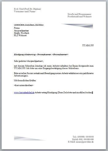 Den Arbeitsvertrag Kundigen Vorlage Und Muster Fur Kundigungsschreiben Kostenlos Kundigung Arbeitsv Kundigung Schreiben Kundigung Vorlage Kundigung Mietvertrag