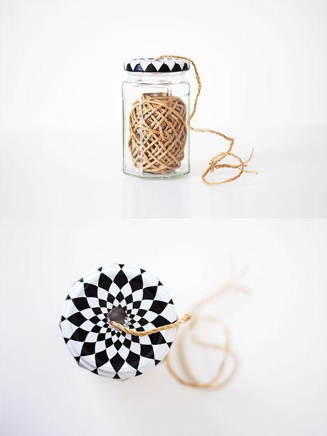 DIY idea: Repurposed Jar Twine Dispenser | Pastill.nu