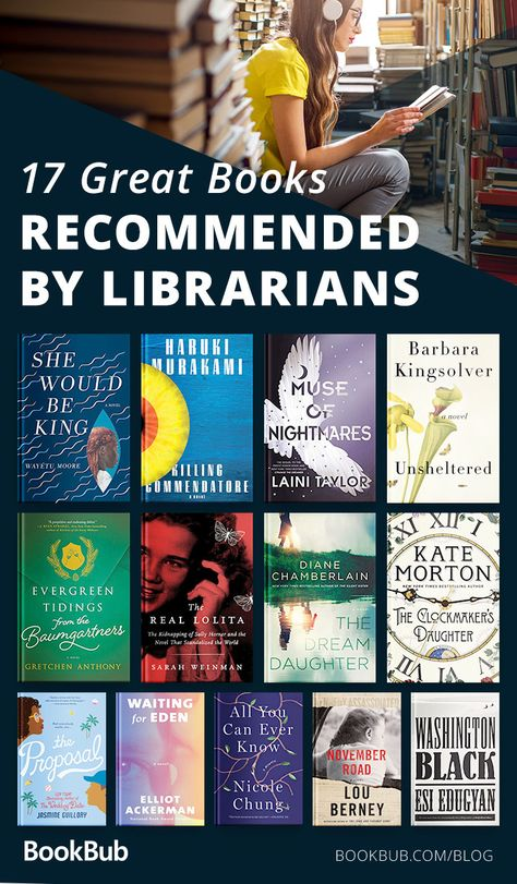 If you're looking for your next great read, check out this list of books recommended by librarians! A mix of historical fiction, literary fiction, YA, and more.