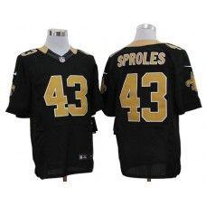b5c8a5c0c11 Nike Darren Sproles Jersey Elite Team Color Black New Orleans Saints #43