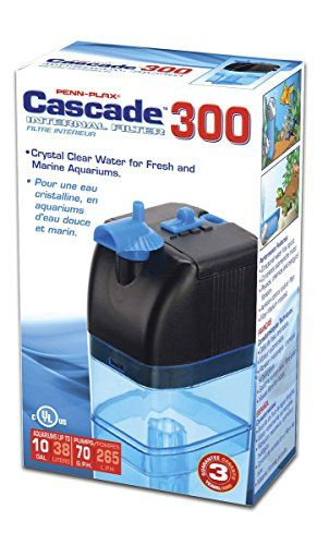 Penn Plax Cascade 300 Submersible Aquarium Filter Cleans Up To 10 Gallon Fish Tank With Physical Chemical And Biological Filtration 10 Gallon Fish Tank Aquarium Filter Fish Tank