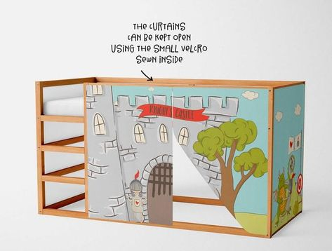 Spielhaus Fur Ikea Kura Bett Ritter Spielhaus Vorhange Hochbett
