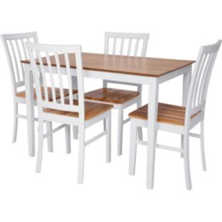 buy catalina dining table and 4 chairs   white and natural at argos co uk   your online shop for dining sets    design board   pinterest   argos dining and     buy catalina dining table and 4 chairs   white and natural at      rh   pinterest com