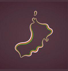 Oman Outline Map Vector Vector Sketch Vector