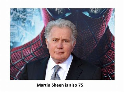 Celebrities Over 70 Famous Faces Actors Martin Sheen