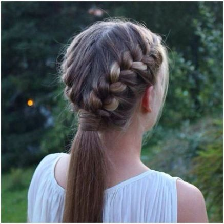 New Hairstyles For Girls Dance French Braids Ideas Dance Hairstyles French Braid Ponytail Competition Hair