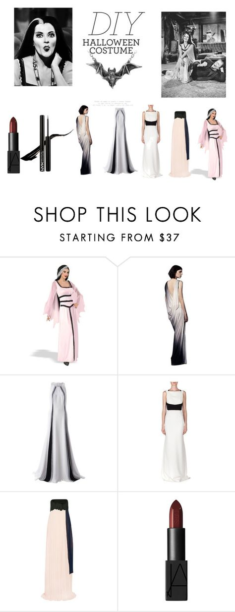 """""""DIY Halloween Costume: Lily Munster"""" by len-groenewald ❤ liked on Polyvore featuring Yvonne, Helmut Lang, Linda Farrow, Roland Mouret, Issa, NARS Cosmetics, contest, contestentry and diyhalloweencostume"""