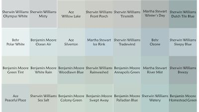 Printable Color Palette Of Gray Blue Paint Colors With Hints Green Monday The Creativity Exchange Sea Star For Office Ceiling