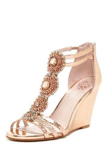 Embellished Wedge Sandal.