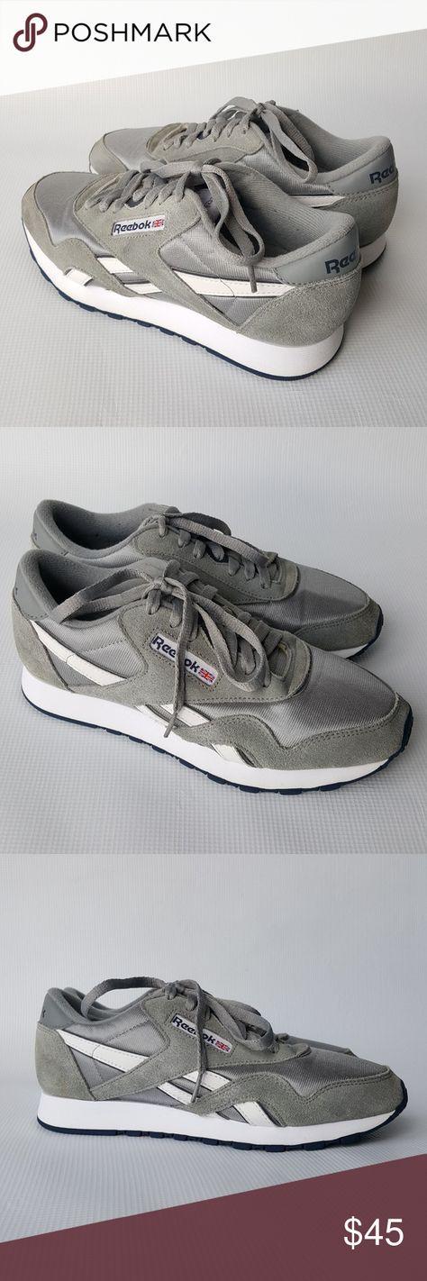 0e0edeeaf Reebok Classic Nylon Suede Gray Sneakers Size 7.5 Men s Reebok Classic Nylon Suede  Gray