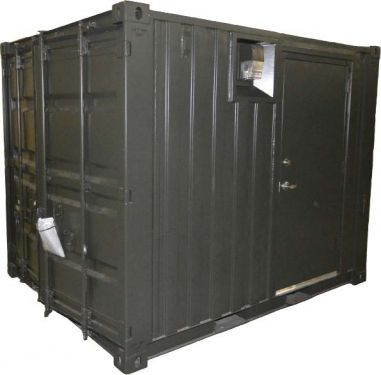 Sea Box 10 X 8 Bicon Type 1 Iso Container With 80 Kw Ups Iso Container Container House Locker Storage