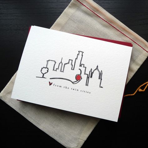 Love from the Twin Cities Notecard Set. $15.00, via Etsy.     I messaged and she said..    A lot of other styles of my cards are at the Walker Art Center Shop through the end of February, but they don't carry the Love cards.    Corazon  4646 E. Lake Street Minneapolis 55406  Tel: 612-276-0198    Golden Fig Fine Foods  790 Grand Avenue Saint Paul  Tel: 651-602-0144    Let me know if you've got any other questions. Thanks again!  Mallory