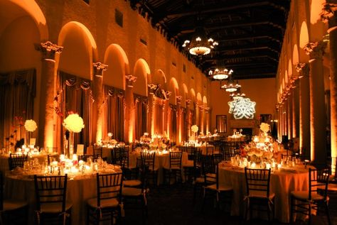 Yellow amber uplighting on pinterest 171 pins for Diy wedding reception lighting