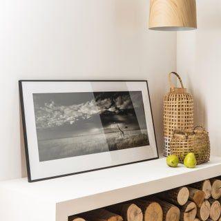 En Bois Noir famille moderne mur Signe 29 cm