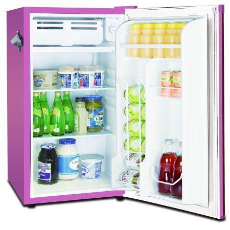Frigidaire 3 2 Cu Ft Retro Compact Refrigerator With Side Bottle Opener Efr376 Red Walmart Com Compact Refrigerator Mini Fridge Retro Refrigerator