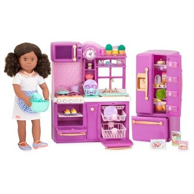 Our Generation Gourmet Kitchen Lilac Our Generation Dolls Girl Dolls American Girl Doll House
