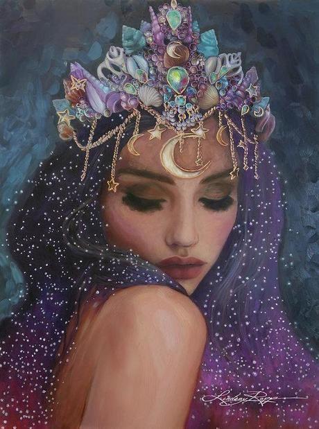 Celestial Goddess art print by Lindsay Rapp. Our prints are .