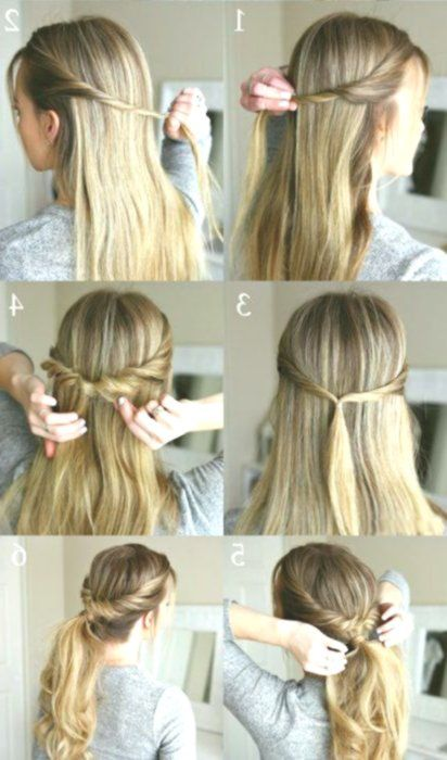 8 Simple Hairstyle Ideas For Less Than 2 Minutes Frisuren Easy Hairstyles Hair Styles Long Hair Models
