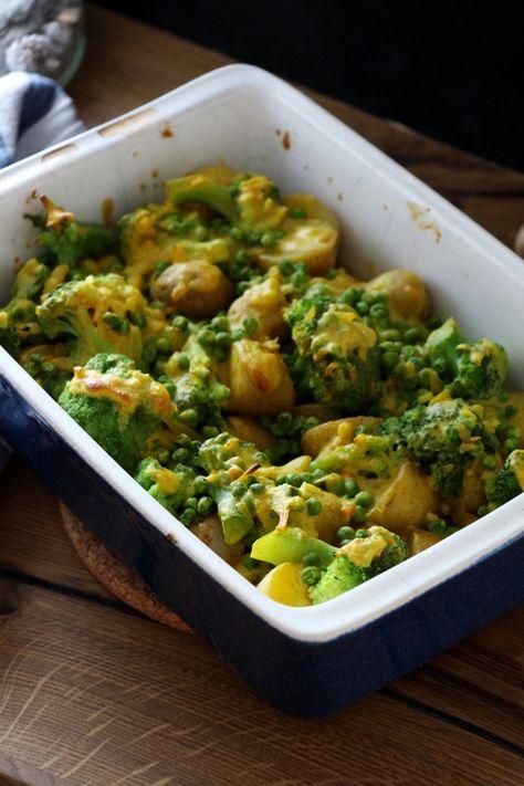 Gesunder veganer Kartoffelauflauf, Kartoffelauflauf, Gemüseauflauf, Veganer Auflauf, Veganer Kartoffelauflauf