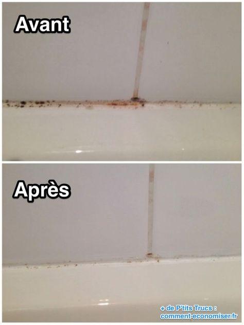 Comment enlever la moisissure des joints de carrelage de la douche