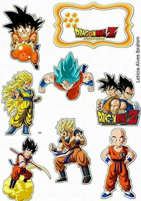 Dragon Ball Z Free Printable Cake And Cupcake Toppers With