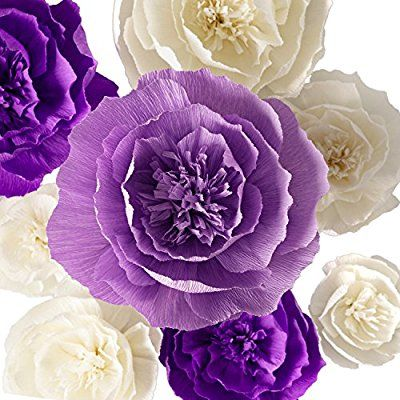 Amazon Com Paper Flower Decorations Crepe Paper Flower Large