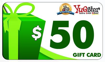 Yugster 50th Gifts Gift Card Cards