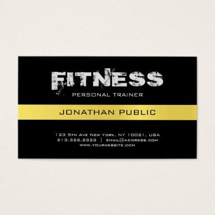 Fitness Personal Trainer Coach Trendy Plain Luxe Business Card Zazzle Com Luxe Business Cards Personal Trainer Business Cards Elegant