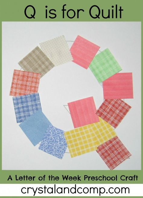 Letter of Week Preschool Craft: Q is for Quilt free printable